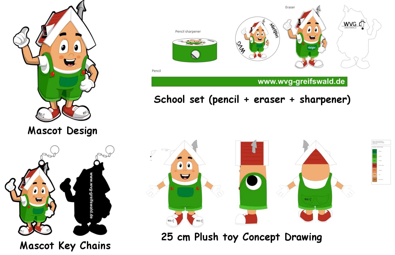 Mascot design services custom mascot costume promo bears for Mascot homes floor plans