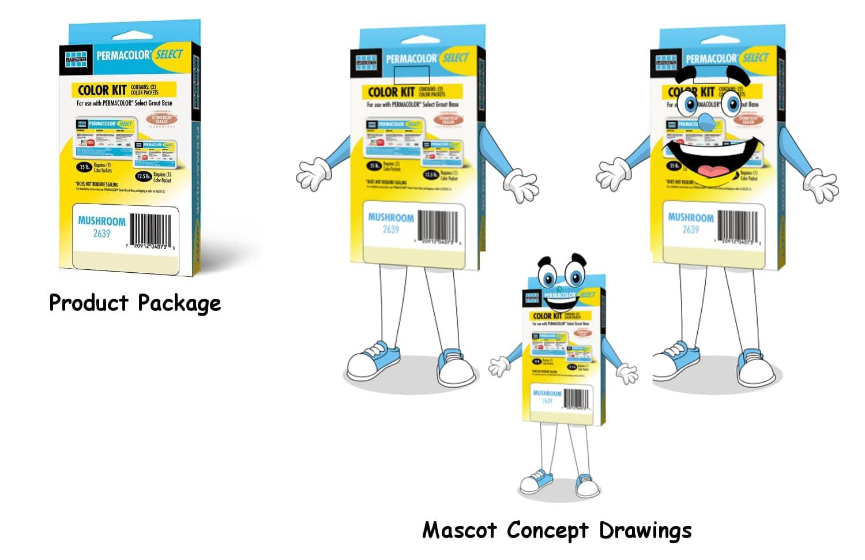 Lacticrete Permacolor Mascot Concept Drawing -Promo Bears-