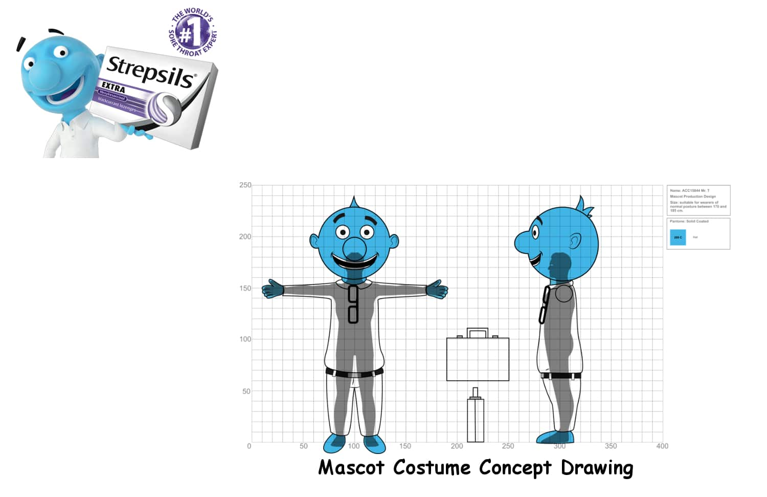 Mr t Mascot Concept Drawing -Promo Bears-