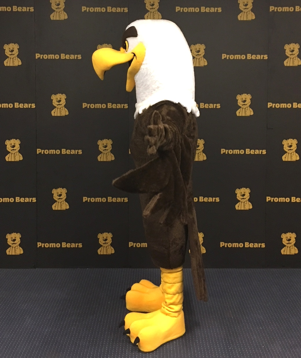 Eagle mascot costume side view