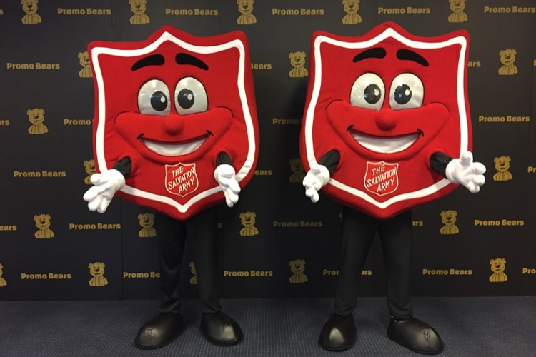 Salvation Army Shield Mascot Costume by Promo Bears