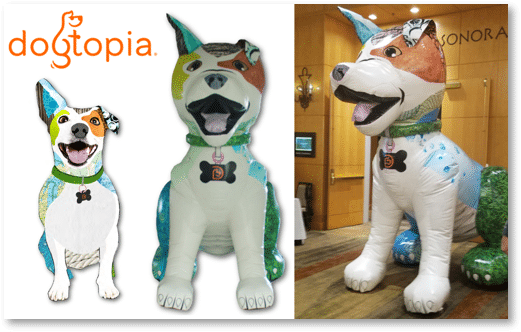 Custom Inflatables Dogtopia inflatbable Mascot made by Promo Bears