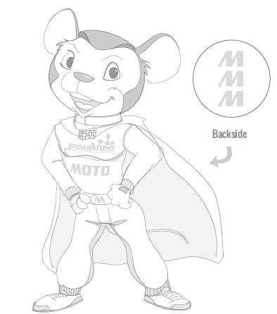 B+W Mascot Design