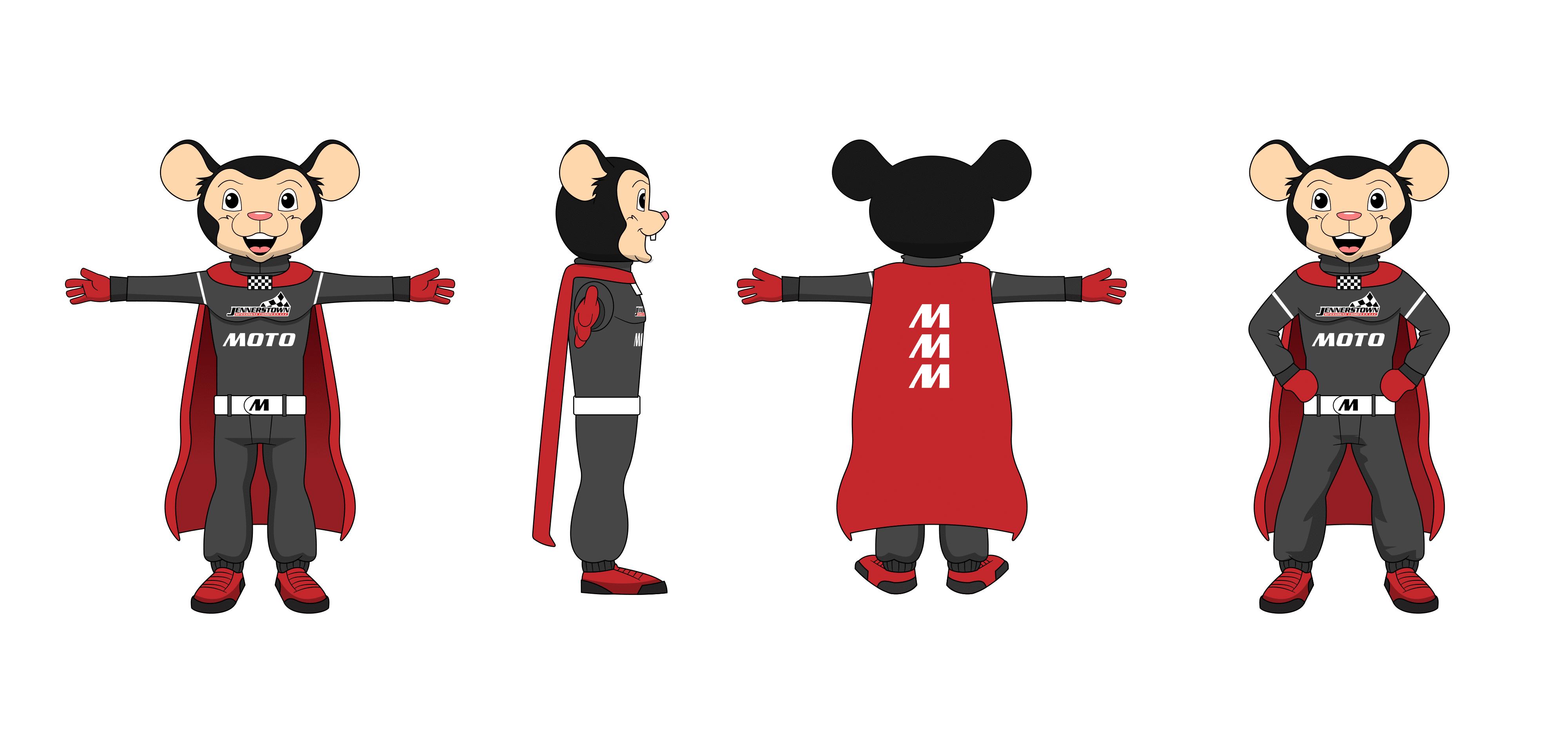 Moto Mouse Concept Illustration
