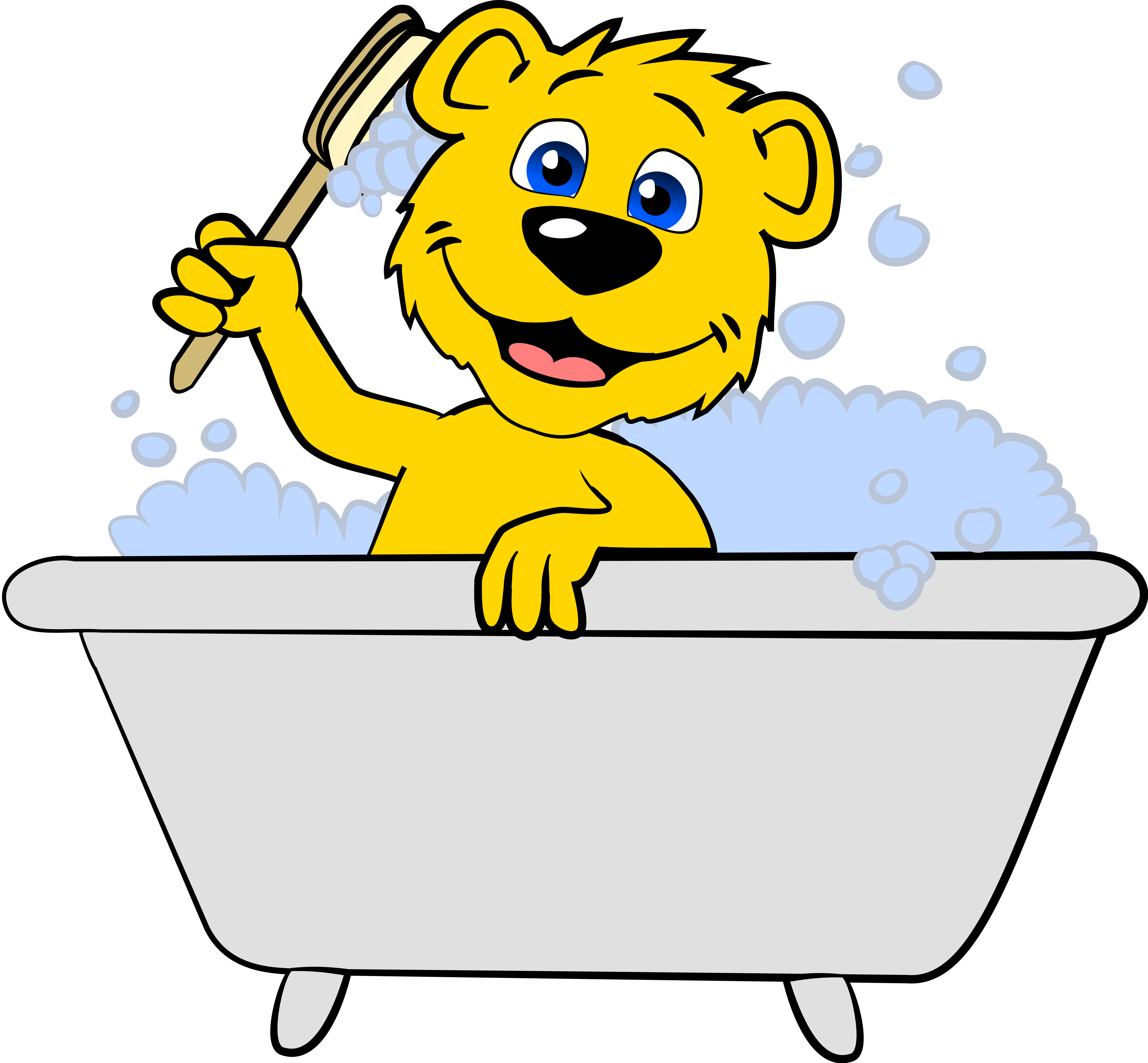 Mascot Ben Cleaning