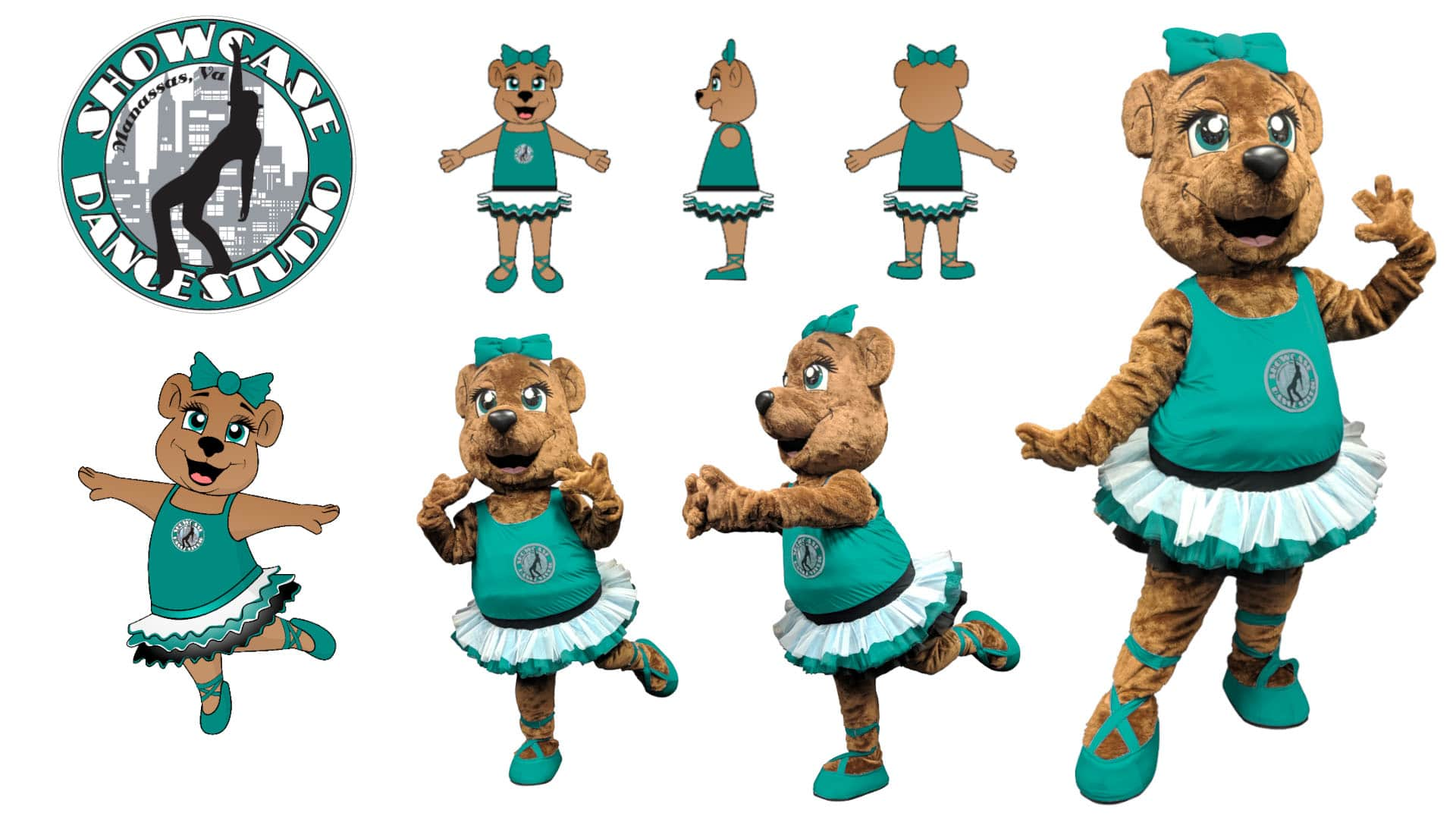 Custom-Mascot-Costume-Bear-Showcase-Dance-by-Promo-Bears