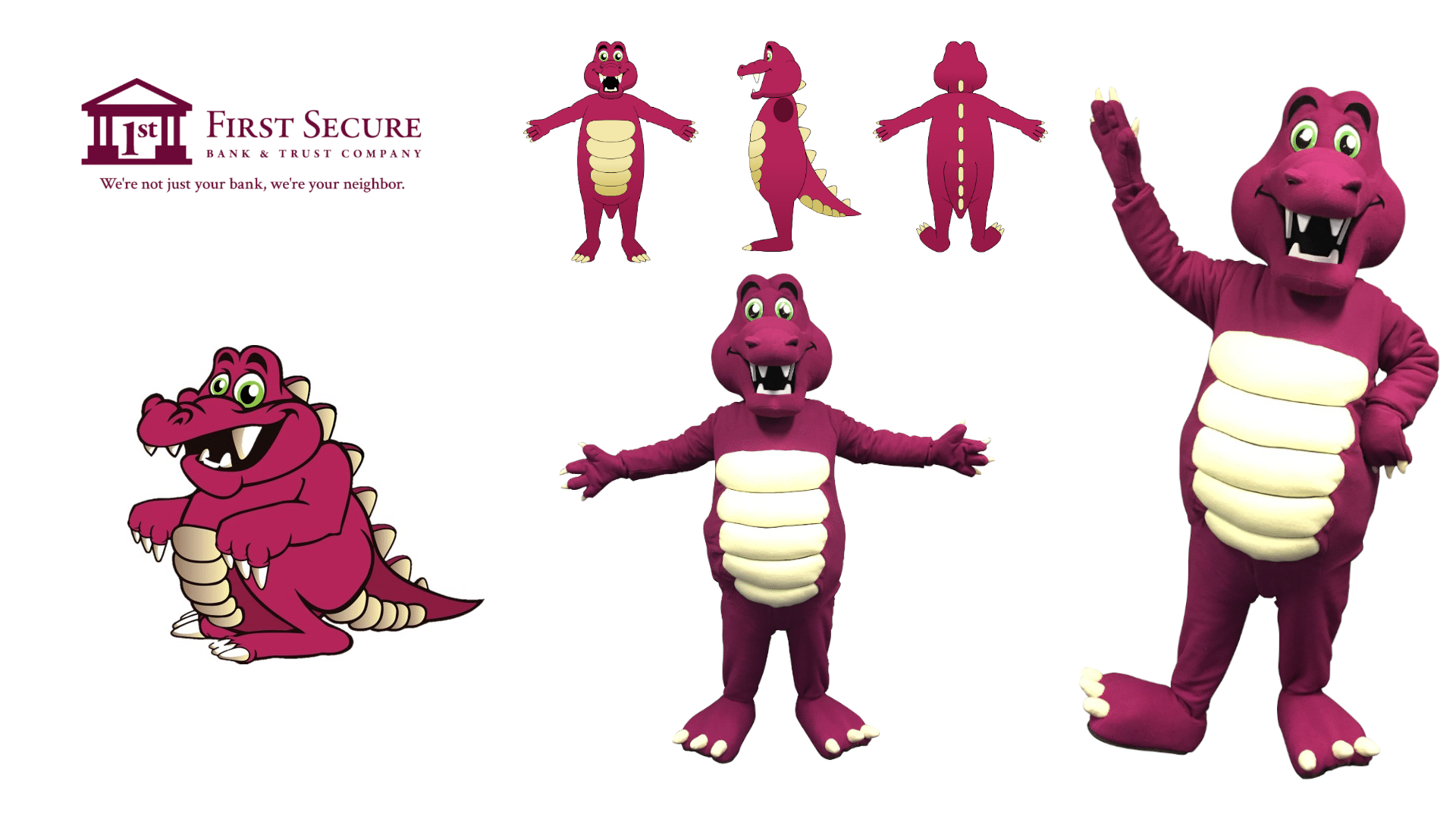 Custom-Mascot-Costume-Monster-First-Secure-Bank-by-Promo-Bears