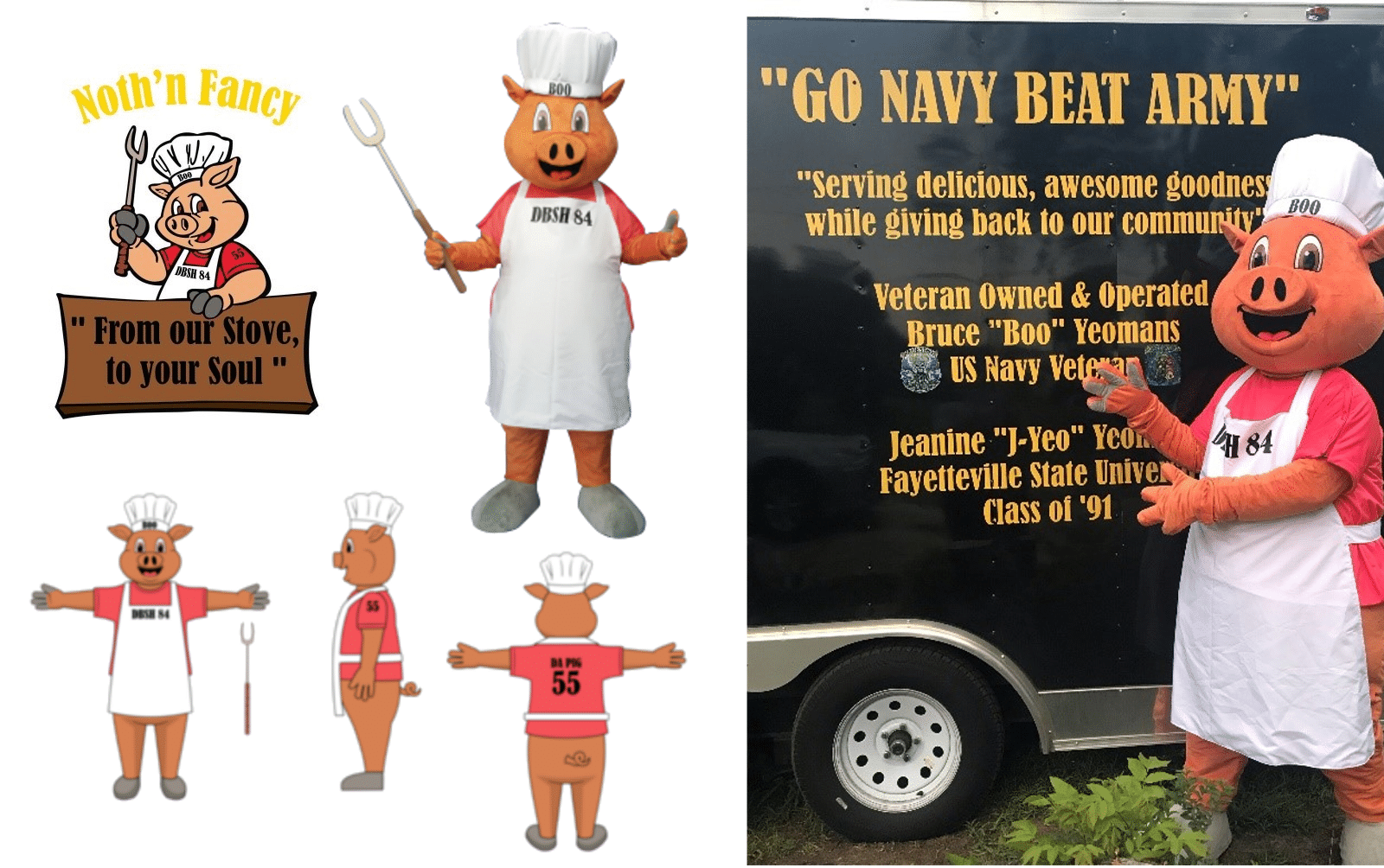 Custom-Mascot-Costume-Pig-Noth'n-Fancy-by-Promo-Bears