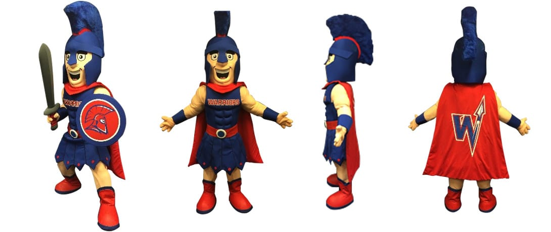 Custom Warrior Mascot Costume - Willy the Warrior