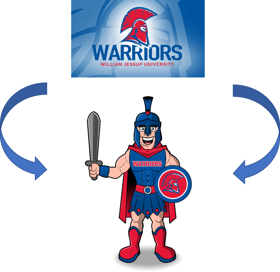Custom Warrior Mascot Logo into Costume