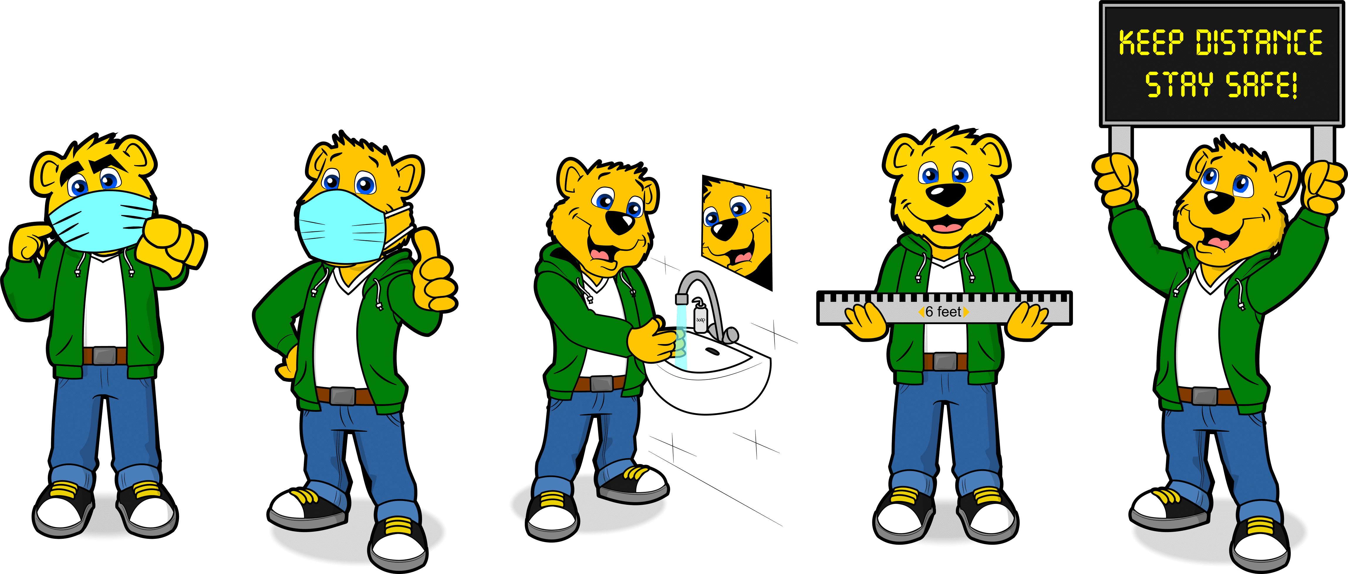 Bear Mascot in various poses