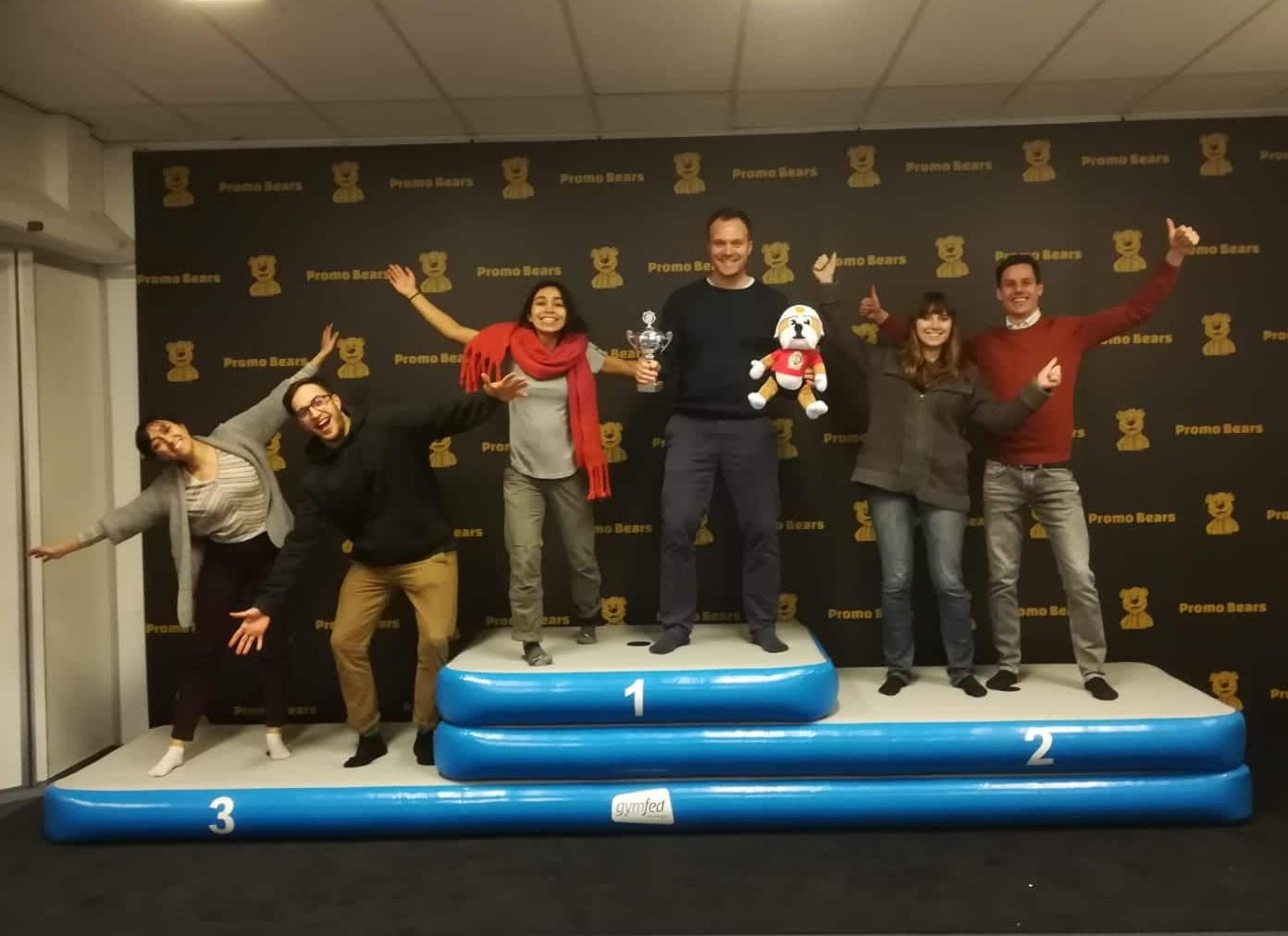 GymFed Custom Inflatable Podium