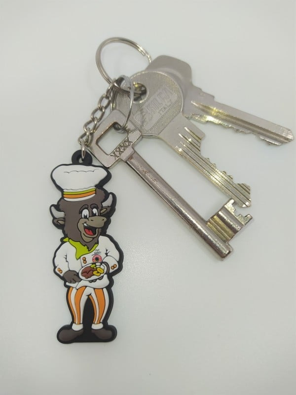 Chef Buffalo Key Chain with keys