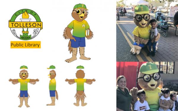 Custom Mascot - Arizona - Tolleson Public Library Ollie