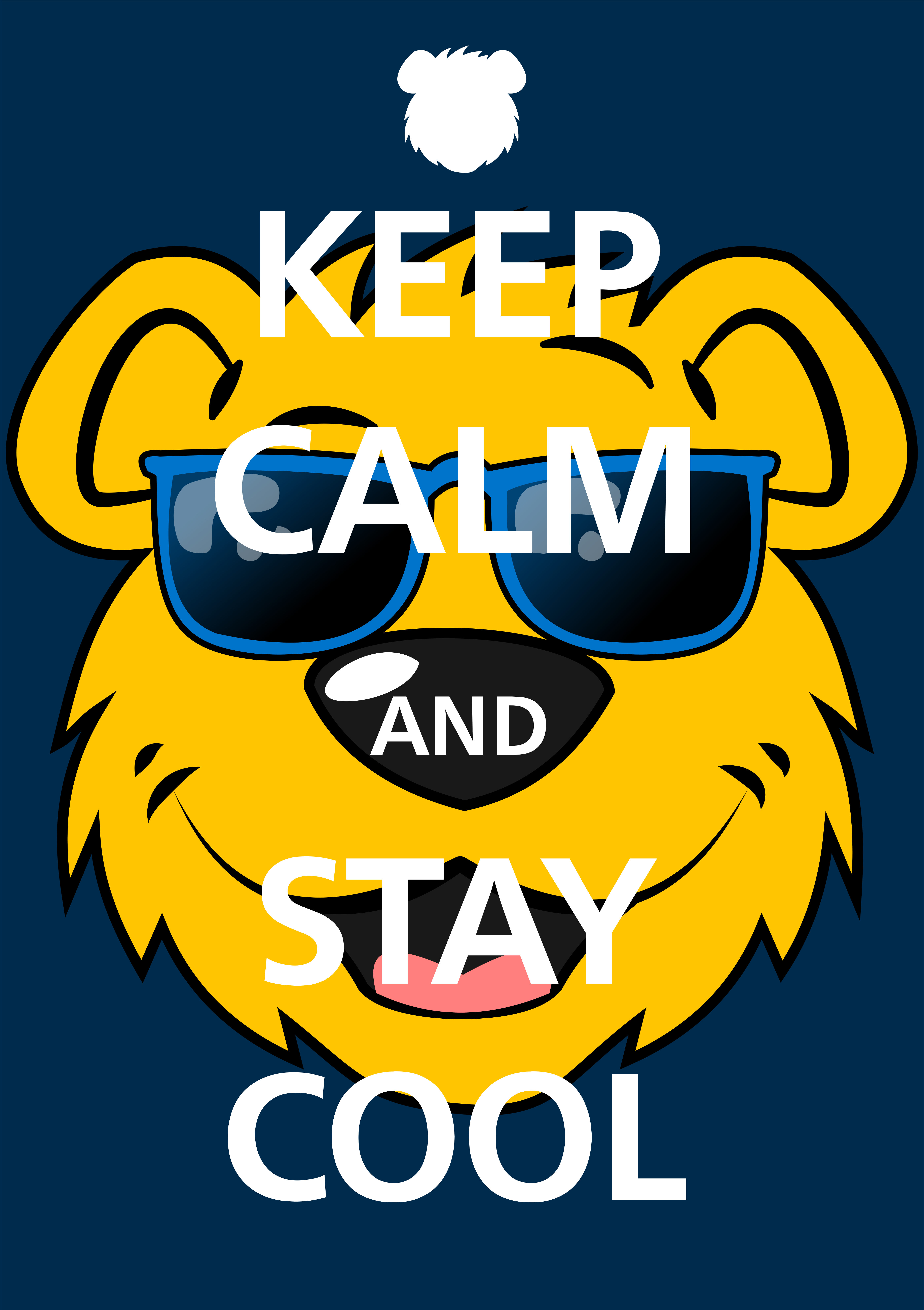 Ben the Bear with Keep Calm and Stay Cool text